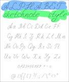 Αλφάβητο Sketchnote Στοκ φωτογραφία με δικαίωμα ελεύθερης χρήσης