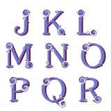 Αλφάβητο Swirly, διάνυσμα Στοκ φωτογραφίες με δικαίωμα ελεύθερης χρήσης