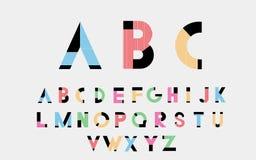Αλφαβητικές πηγές χρώματος Στοκ Εικόνα