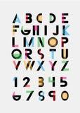 Αλφαβητικές πηγές Στοκ Φωτογραφία