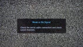 Αδύνατη ή καμία επιγραφή σημάτων στην τηλεοπτική οθόνη με το θόρυβο διανυσματική απεικόνιση