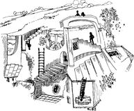 Αδύνατη σκάλα Στοκ Εικόνες