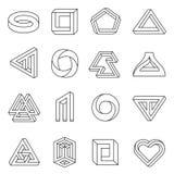 Αδύνατη συλλογή τέχνης γραμμών αριθμών διανυσματική απεικόνιση
