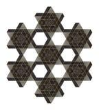 Αδύνατο αστέρι του Δαυίδ Στοκ Εικόνα