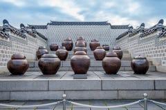 Βάζα ή βάζα kimchi στην Κορέα Στοκ εικόνες με δικαίωμα ελεύθερης χρήσης