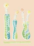 Βάζα και λουλούδια Στοκ εικόνα με δικαίωμα ελεύθερης χρήσης