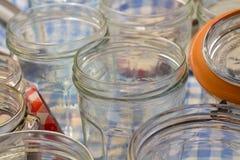 Βάζα μαρμελάδας γυαλιού Στοκ φωτογραφία με δικαίωμα ελεύθερης χρήσης