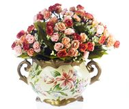 Βάζα με τα λουλούδια Στοκ εικόνες με δικαίωμα ελεύθερης χρήσης