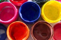 βάζα με το χρώμα γκουας Στοκ Φωτογραφίες
