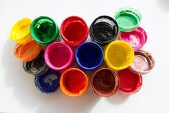 βάζα με το χρώμα γκουας Στοκ φωτογραφίες με δικαίωμα ελεύθερης χρήσης