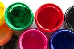 βάζα με το χρώμα γκουας στοκ φωτογραφία με δικαίωμα ελεύθερης χρήσης