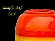 Βάζα χρώματος κεραμικής Στοκ Φωτογραφίες