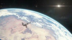 Βάζοντας σε τροχιά γη διαστημοπλοίων ελεύθερη απεικόνιση δικαιώματος