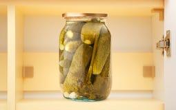 βάζο γυαλιού αγγουριών &pi Στοκ Εικόνα
