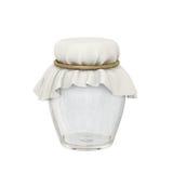 Βάζο γυαλιού και ωοειδής μορφή υφασμάτων που δένονται με ένα χρυσό σχοινί Στοκ Φωτογραφία