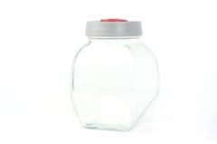 Βάζο γυαλιού πέρα από το άσπρο υπόβαθρο Στοκ Φωτογραφία
