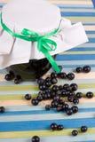 βάζο μαρμελάδας μαύρων στ&alph Στοκ εικόνες με δικαίωμα ελεύθερης χρήσης