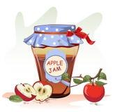 Βάζο μαρμελάδας της Apple Στοκ Εικόνα