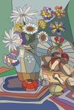 Βάζο με τα λουλούδια Στοκ φωτογραφία με δικαίωμα ελεύθερης χρήσης