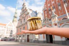 Βάζο με τις κλυπέες της Ρήγας ` s Στοκ Φωτογραφία