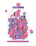Βάζο με το σχέδιο μαρμελάδας καρπού απεικόνιση αποθεμάτων