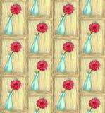 Βάζο μολυβιών χρώματος με το λουλούδι στοκ φωτογραφία με δικαίωμα ελεύθερης χρήσης