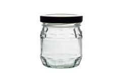 βάζο πίνακας γυαλιού δημητριακών καφέ Στοκ Εικόνες