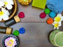 Βάζο, πετσέτα και σαπούνι Aromatherapy Στοκ Εικόνες