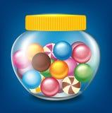 Βάζο των γλυκών Στοκ Εικόνες