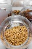 Βάζο των τηγανισμένων κρεμμυδιών Στοκ Εικόνες