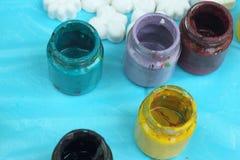 Βάζο χρωμάτων Στοκ Εικόνες
