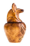 Βάζο Canopic που απομονώνεται στοκ εικόνα