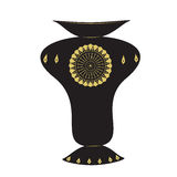 Βάζων μεγάλο μαύρο διακοσμήσεων σχεδίου σχεδίων χρυσό διάνυσμα υποβάθρου χρώματος ελαφρύ Στοκ Εικόνα