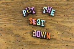 Βάλτε το κάθισμα κάτω από την πειθαρχία στοκ φωτογραφία με δικαίωμα ελεύθερης χρήσης