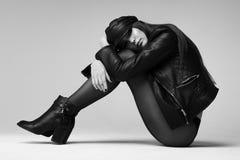 Βάναυσο κορίτσι στο σακάκι Στοκ φωτογραφία με δικαίωμα ελεύθερης χρήσης