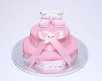βάπτισμα κέικ στοκ φωτογραφία