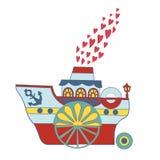 Βάρκα αγάπης, απεικόνιση βιβλίων των αστείων παιδιών Στοκ εικόνες με δικαίωμα ελεύθερης χρήσης
