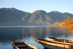 βάρκα αγκυλών ξύλινη Στοκ εικόνα με δικαίωμα ελεύθερης χρήσης