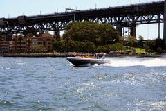 βάρκα αεριωθούμενο Σύδν&epsil Στοκ φωτογραφία με δικαίωμα ελεύθερης χρήσης