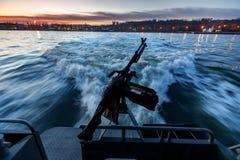 Βάρκα ακτοφυλακής στην Ουκρανία Στοκ Φωτογραφίες
