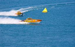 βάρκα από τον αγώνα της ακτή&sigm Στοκ Εικόνα