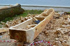 Βάρκα από τον κορμό Στοκ Εικόνα