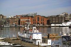 Βάρκα αστυνομίας στο λιμένα του Όσλο, Νορβηγία Στοκ φωτογραφία με δικαίωμα ελεύθερης χρήσης