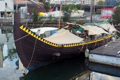 Βάρκα Βίκινγκ αντιγράφου, κόλπος Blackwattle, λιμάνι του Σίδνεϊ, Αυστραλία Στοκ Εικόνα