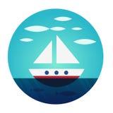 Βάρκα για να επιπλεύσει ελεύθερα Στοκ Εικόνες
