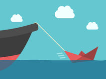 Βάρκα εγγράφου, μεταλλικό σκάφος Στοκ φωτογραφία με δικαίωμα ελεύθερης χρήσης