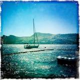Βάρκα επάνω στη θάλασσα Στοκ Εικόνες