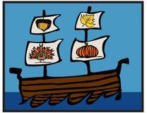 Βάρκα ημέρας των ευχαριστιών Στοκ φωτογραφία με δικαίωμα ελεύθερης χρήσης