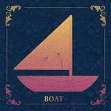 βάρκα, διακοσμητική ζωγραφική Στοκ φωτογραφίες με δικαίωμα ελεύθερης χρήσης
