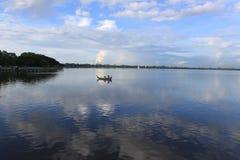 Βάρκα λιμνών στοκ εικόνες